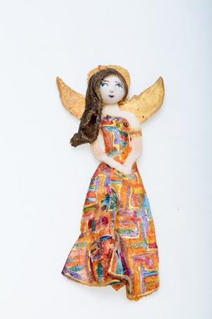 manually: Beauty Angel  painted manually with acrylic paints