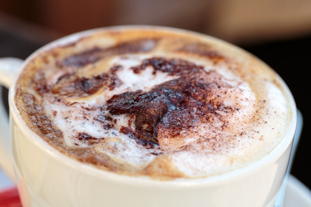 Delicious and tasty coffee cappuccino