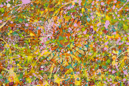 flowery: The flowery background sloppy with colourful  paint