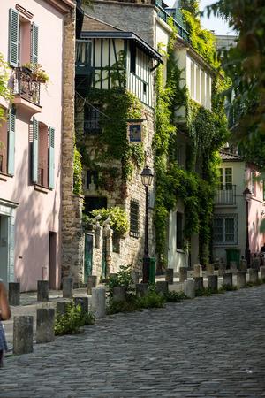 montmartre: Rue de lAbreuvoir, Montmarte, Paris, Stock Photo