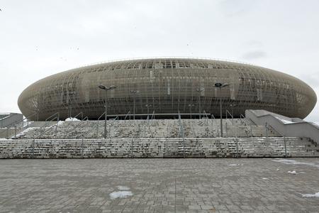sports venue: Cracovia - Tauron Arena Cracovia es el m�s grande en Polonia (for18000 espectadores) y uno de los m�s modernos de la sede sala mundo del espect�culo y el deporte. Cracovia, Polonia