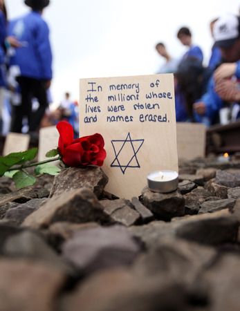 tortured: Auschwitz - The next generation of Tourists from Israel are visiting german Concentration Camp in Auschwitz Birkenau.Poland