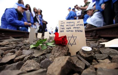 auschwitz memorial: Auschwitz - The next generation of Tourists from Israel are visiting german Concentration Camp in Auschwitz Birkenau.Poland
