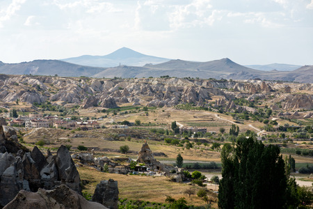goreme: Goreme National Park. Cappadocia in Turkey Stock Photo