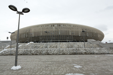 sports venue: Cracow - Tauron Arena Krakow is the biggest in Poland (for18000 spectators) and one of the most modern in the world hall entertainment and sports venue. Cracow, Poland