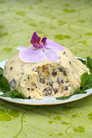 russian easter: Quark dessert, paskha, Russian Easter sweet treat