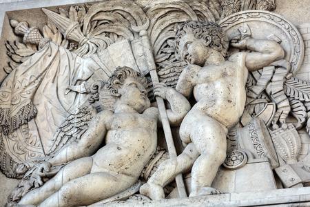 triumphe: Arc de triomphe in  Paris - France Stock Photo