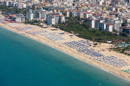 alanya: Alanya - the beach of Cleopatra .  Alanya is one of most popular seaside resorts in Turkey Editorial