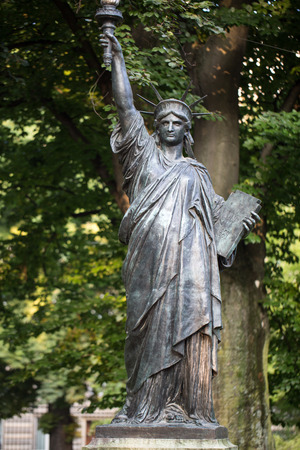 Paris - Luxembourg Gardens. Model of the Statue of Liberty photo