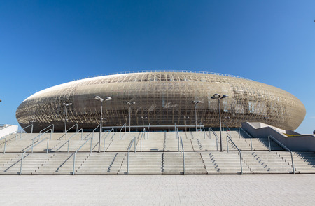 sports venue: CRACOVIA, Polonia - 17 de marzo 2015: Cracovia - Tauron Arena Cracovia es el m�s grande de Polonia y uno de los m�s modernos de la sede sala mundo del espect�culo y el deporte. Cracovia, Polan