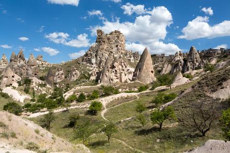 goreme: view of Uchisar castle in Cappadocia , Turkey