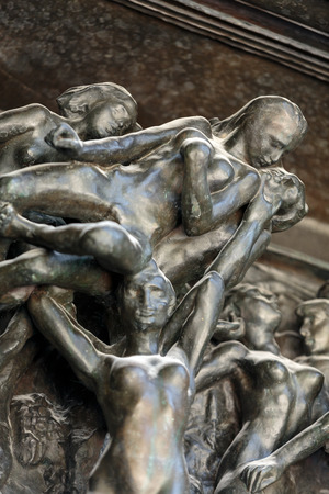 rodin: Paris - Museum Rodin. The Gates of Hell is a monumental sculptural group work by Rodin that depicts a scene from The Inferno,  Dante Alighieris Divine Comedy.