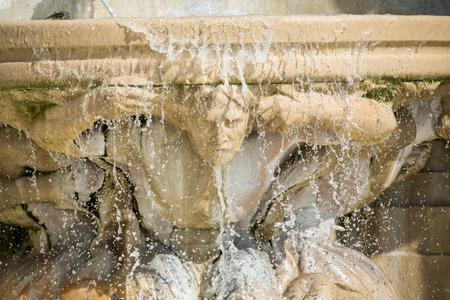sacred source: Fountaine of Sacred Heart of Jesus Basilica, Paris. France