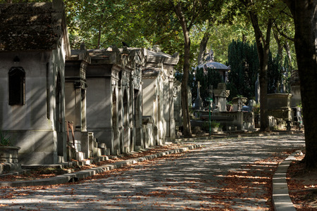 nostalgy: Pere Lachaise cemetery in Paris, France Stock Photo