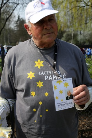 holocaust: OSWIECIM, POLAND - APRIL 16, 2015:   International Holocaust Remembrance Day . Annually people from the all the world meets on the March of the Living in german Concentration Camp in Auschwitz Birkenau. Poland