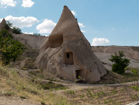 Rock formations in Goreme National Park . Cappadocia.Turkey Stock Photo