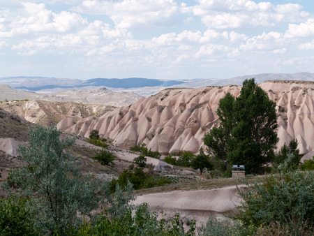 goreme: Volcanic rock landscape, Goreme, Cappadocia, Uchisar, Turkey Stock Photo