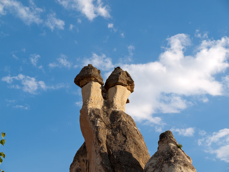 goreme: Rock formations in Goreme National Park . Cappadocia.Turkey Stock Photo
