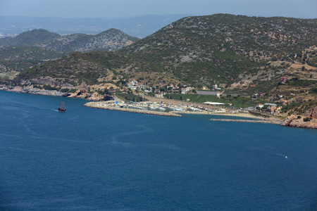 alanya: Alanya - the panoramic view of the coast Stock Photo