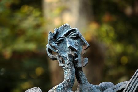 ou: Le Poete ou Hommage a Paul Eluard by Ossip Zadkine, Luxembourg garden, Paris, France