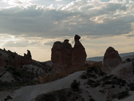formations: Rock formations in Goreme National Park . Cappadocia.Turkey Stock Photo