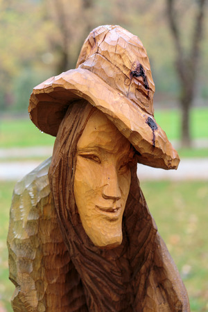 genie woman: Fairy-like wooden figures from primaeval Slawic tales