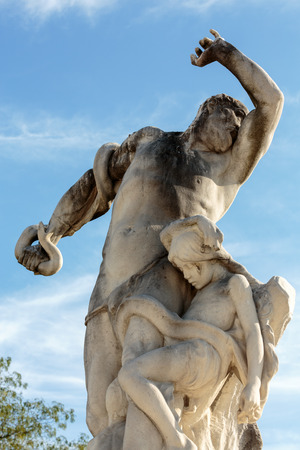 medici: Antique sculpture in Jardin des Tuileries (Tuileries garden) - favorite spot for rest of tourists and Parisians. Garden was created by Catherine de Medici in 1564. Paris, Franc