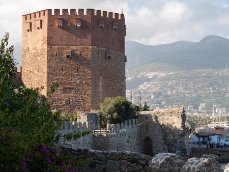 alanya: Kizil Kule or Red Tower in Alanya, Antalya, Turkey