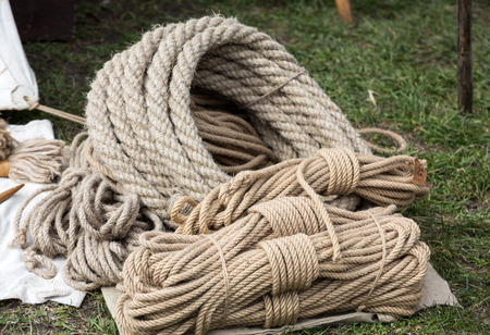 tether: coil of rope