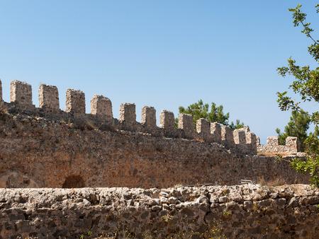 ottoman: Ruins of Ottoman fortress in Alanya . Turkey. Editorial