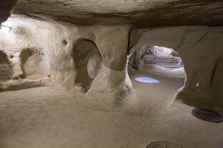 palaeolithic: Derinkuyu underground city, Cappadocia in Central Anatolia, Turkey Stock Photo