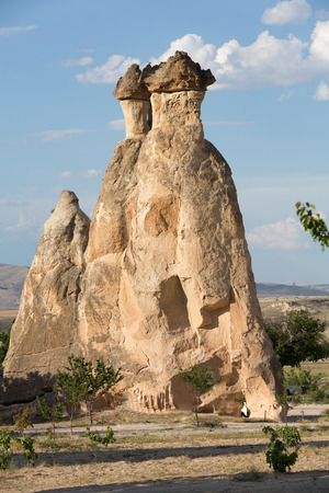 goreme: Rock formations in Goreme National Park. Cappadocia,  Turkey Stock Photo