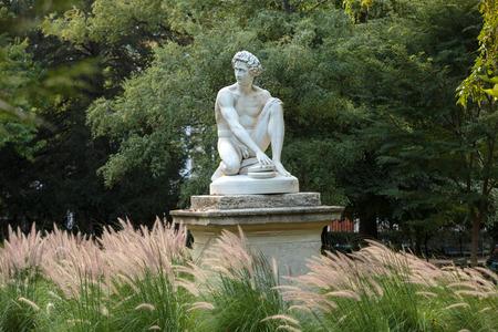 henri: Paris - Luxembourg Gardens. Sculpture of Archidamas by Philippe Joseph Henri Lemaire