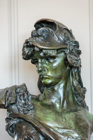 rodin: Paris - Museum Rodin. The bronze  bust of Bellona Editorial