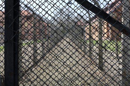 death camp: Electric fence in former German concentration camp Auschwitz I, Poland Editorial
