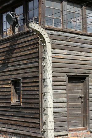 tortured: Auschwitz-Birkenau, German concentration and extermination camp in Poland. Auschwitz was a network of concentration camps built in Poland by Nazi Germany