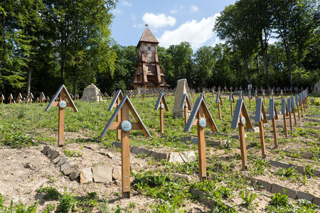 military cemetery: The old military cemetery form first world war in  Luzna Pustki- battle of Gorlice - Poland Stock Photo