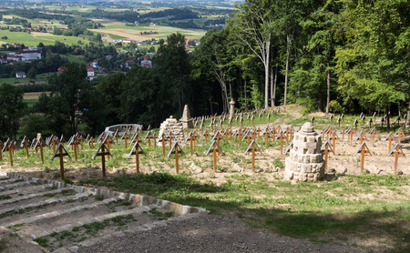 military cemetery: The old military cemetery form first world war in  Luzna Pustki- battle of Gorlice - Poland Editorial