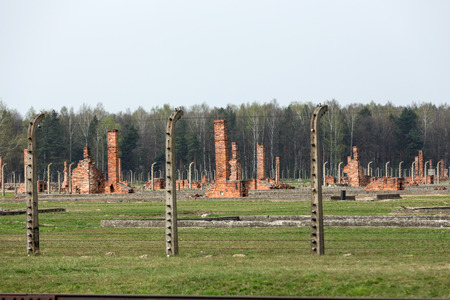 birkenau: Auschwitz II Birkenau. Poland. The biggest   concentration camp in Europe and now the State Museum Auschwitz-Birkenau.