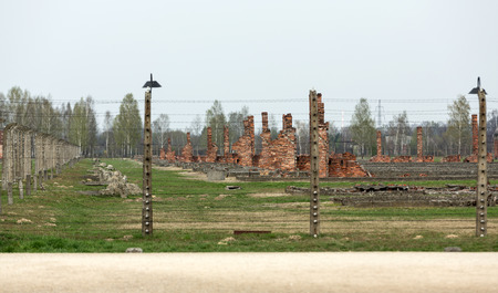 death camp: Auschwitz II Birkenau. Poland. The biggest German concentration camp in Europe and now the State Museum Auschwitz-Birkenau. Editorial
