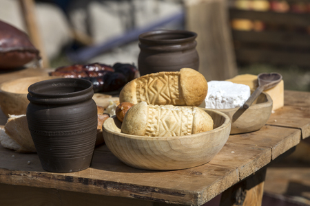oscypek: Oscypek - traditional polish smoked sheep cheese Stock Photo