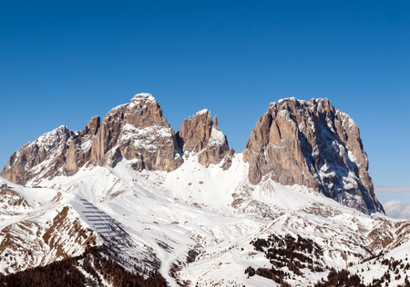 sella: Dolomites Alps - overlooking the Sella group  in Val Gardena. Italy