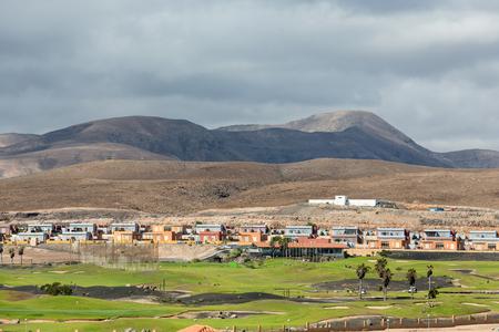 canary island: Golf course in caleta de Fuste on Fuertaventura , Canary Island, Spain