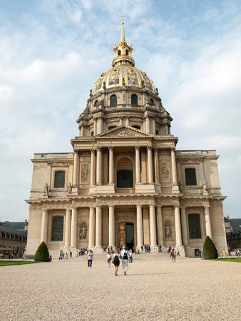 bonaparte: View of Dome des Invalides, burial site of Napoleon Bonaparte, Paris, France