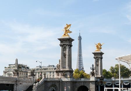 iii: Alexandre III bridge in Paris, France Stock Photo