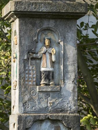 devotional: Old Wayside shrine in Wieliczka near Cracow. Poland