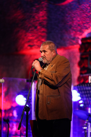 salt mine: WIELICZKA, POLAND - NOVEMBER 2, 2015: Adam Kawonczyk Quartet playing live music at The Cracow Jazz All Souls Day Festival in The Wieliczka Salt Mine. Poland