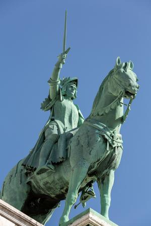 coeur: Paris Equestrian Statue of Saint Joan of Arc on basilica Sacre Coeur