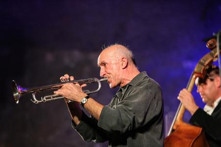 all souls' day: WIELICZKA, POLAND - NOVEMBER 2, 2015: Adam Kawonczyk Quartet playing live music at The Cracow Jazz All Souls Day Festival in The Wieliczka Salt Mine. Poland
