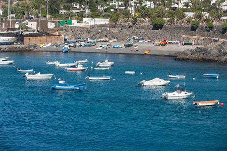 playa blanca: Fishing boats in Playa Blanca, Canary Island Lanzarote.Spain